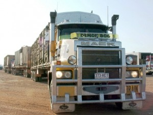 A big truck similar to the ones that had car accidents in ohio last week